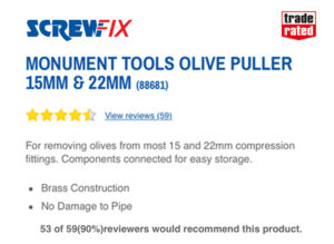 Original Olive Puller in Screwfix
