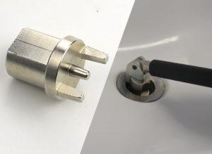 Grip+ 4527C Sink Rose Strainer tool
